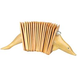 Handmade Dolphin Mahogany Wood Clacker Percussion Instrument (Indonesia)