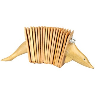 Handmade Dolphin Mahogany Wood Clacker Percussion Instrument (Indonesia)