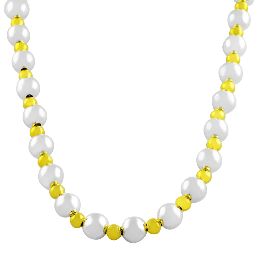 Fremada Gold over Sterling Silver Bead Ball Necklace (sil...