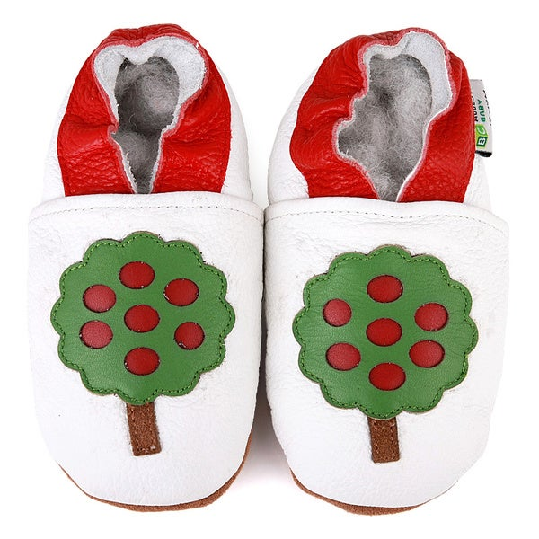 Apple Tree Soft Sole Leather Baby Shoes
