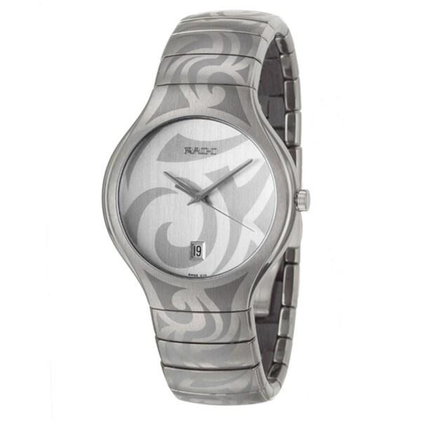 Rado Men's 'Rado True' Titanium/ Ceramic Quartz Watch. Opens flyout.