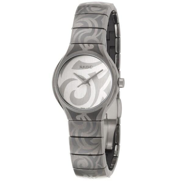 Rado Women's 'Rado True' Titanium and Ceramic Quartz Watch