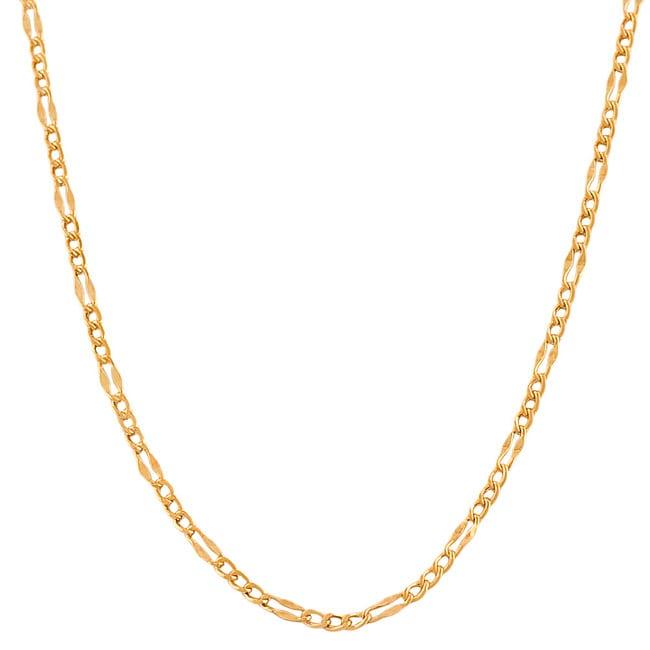 Fremada 14k Rose Gold 18-inch Fancy Figaro Link Chain