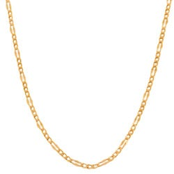 Fremada 14k Rose Gold 18-inch Fancy Figaro Link Chain