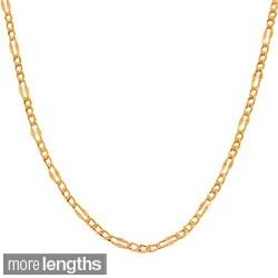 High-polish 14-carat Rose-gold 24-inch Fancy Figaro Link Chain