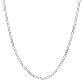 Fremada 14k White Gold Fancy Figaro Link Chain 16 24 Inch