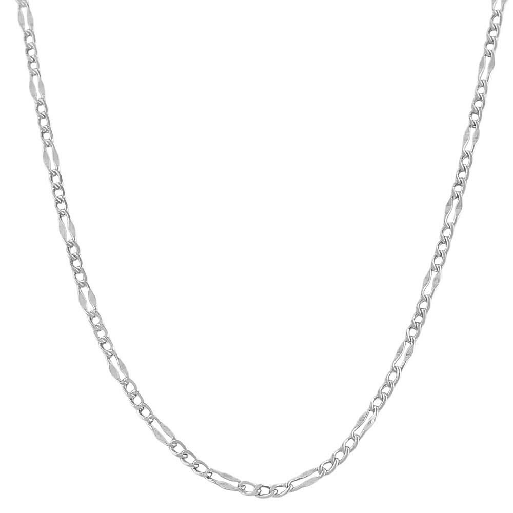 83511c8d6a14 Thumbnail Fremada 14 Karat White Gold Fancy Figaro Link Chain (18-inch) ...