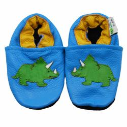Tricerotops Dinosaur Soft Sole Leather Baby Shoes