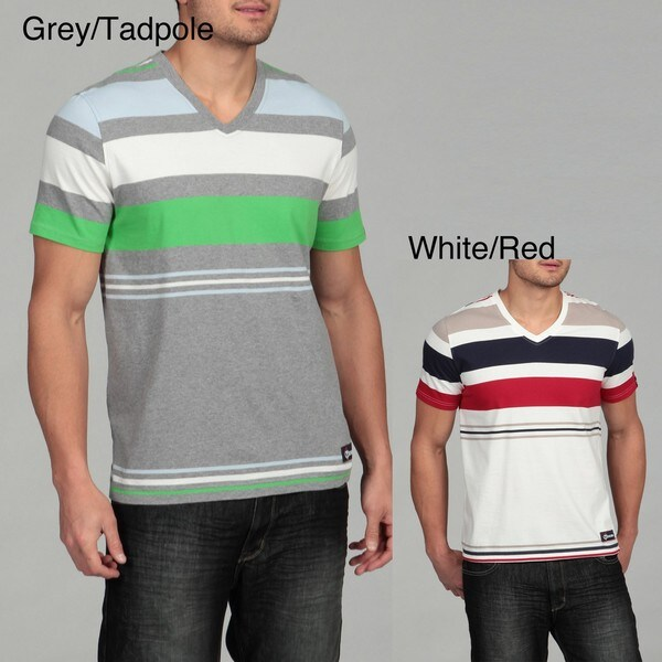 Generra Men's Striped V-neck Tee