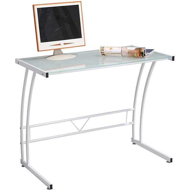Single Bit White Workstation Desk