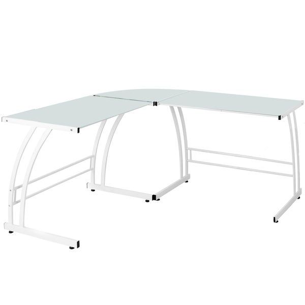 LumiSource Double Bit White Workstation Desk