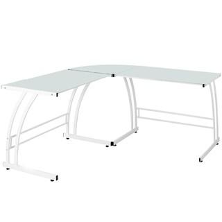 LumiSource Double Bit White Workstation Desk