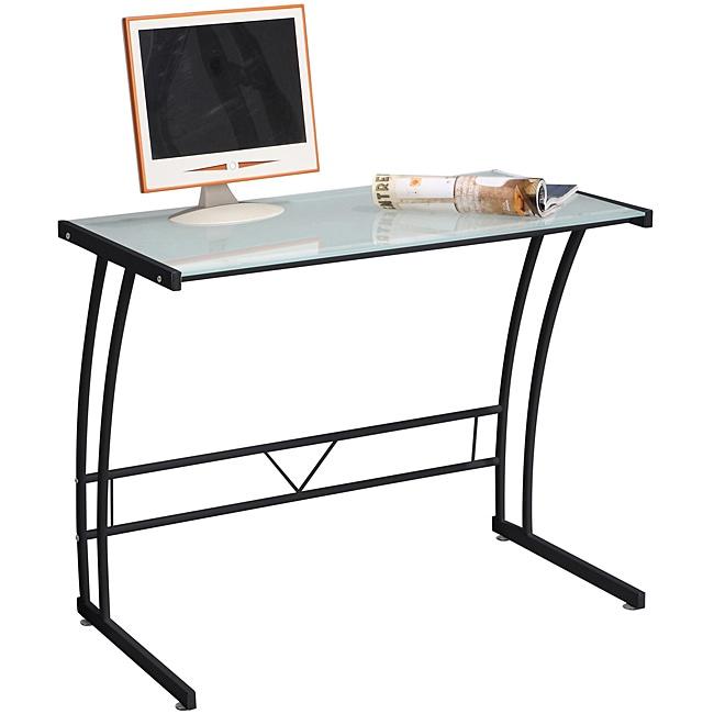 Single Bit Black Workstation Desk