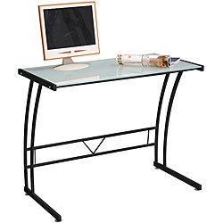 Single Bit Black Workstation Desk