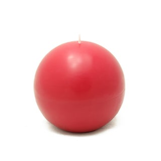 4-inch Ball Candles (Set of 2) - 4 x 4 (Option: Red)