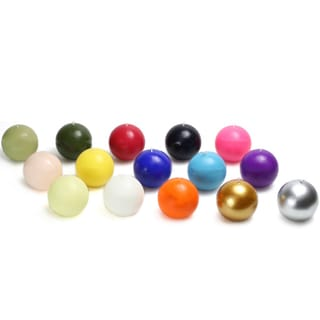 Link to 4-inch Ball Candles (Set of 2) - 4 x 4 Similar Items in Decorative Accessories