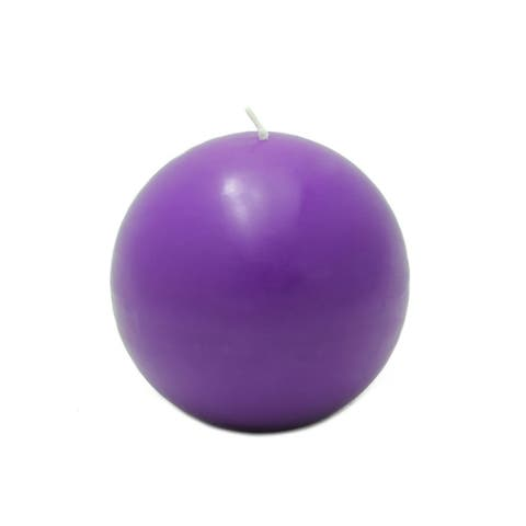 4-inch Ball Candles (Set of 2) - 4 x 4