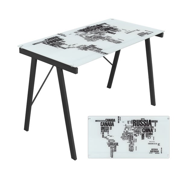 World Map Office Desk/ Drafting Table - Free Shipping Today
