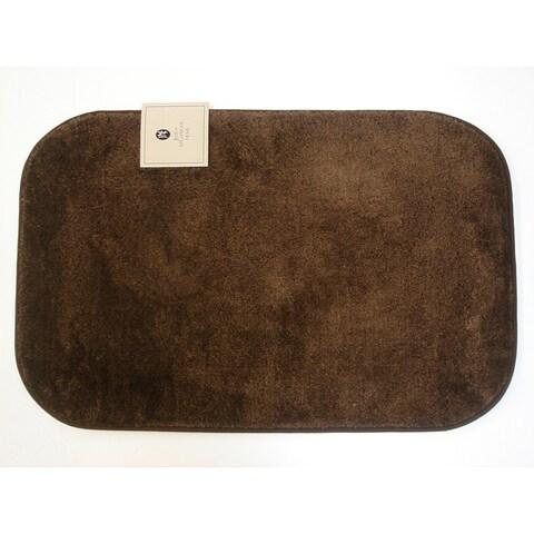 Sherry Kline Solid Brown Non-skid 21 x 33 Bath Rug (Set of 2)