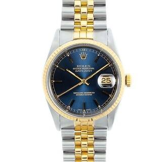 Pre-owned Rolex Men's Datejust Two-tone Blue Dial Watch|https://ak1.ostkcdn.com/images/products/6383274/P13997198.jpg?impolicy=medium