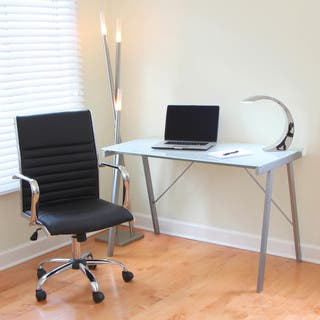 Lumisource desks computer tables for less overstock white exponent office desk drafting table gumiabroncs Image collections