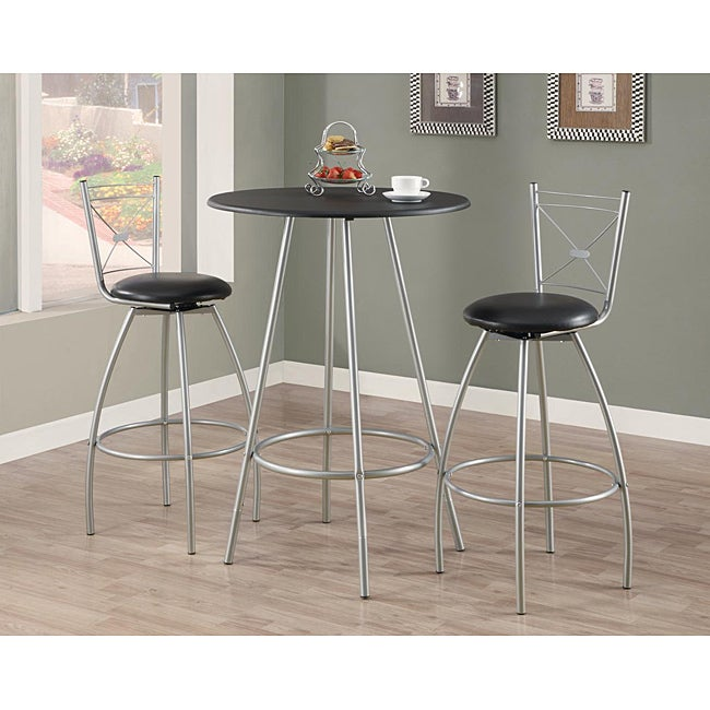 Silver Metal 29-inch Swivel Barstool (Set of 2)
