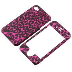 INSTEN Pink Leopard Phone Case Cover/ Screen Protector for Apple iPhone 4S