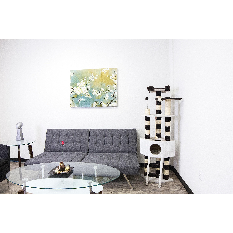 Kitty Mansions Savannah Cat Tree Furniture (White/Beige)
