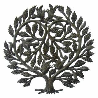 Handmade Recycled Steel Tree Of Life U0027Loveru0027s Heartu0027 Wall Art ...