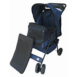 Go Pet Club Blue Pet Stroller - Thumbnail 2