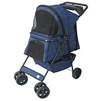 Go Pet Club Blue Pet Stroller