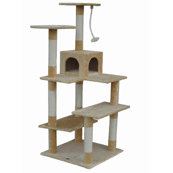 6-tier Cat Tree with Scratching Posts