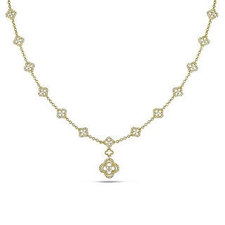 Miadora Signature Collection 14k Yellow Gold 1 1/3ct TDW Diamond Necklace