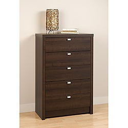Valhalla Designer Series Espresso 5-Drawer Chest