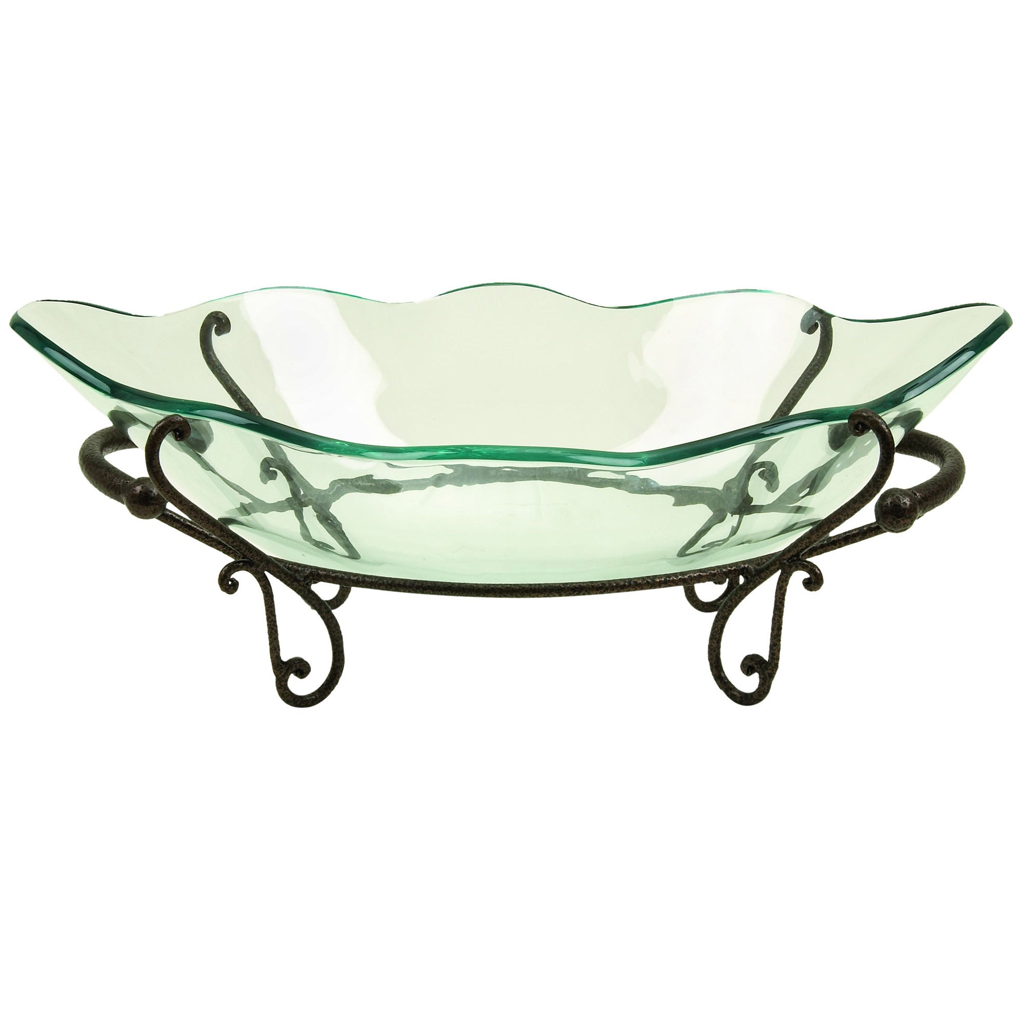 Casa Cortes Milan Centerpiece Glass Bowl with Stand