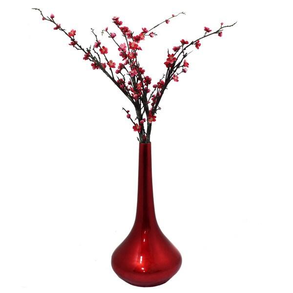 Casa Cortes Red Flare 19-inch Ceramic Vase