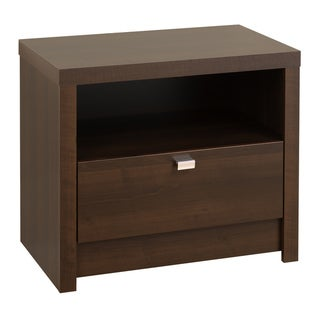 Valhalla Designer Series Espresso 1-Drawer Nightstand