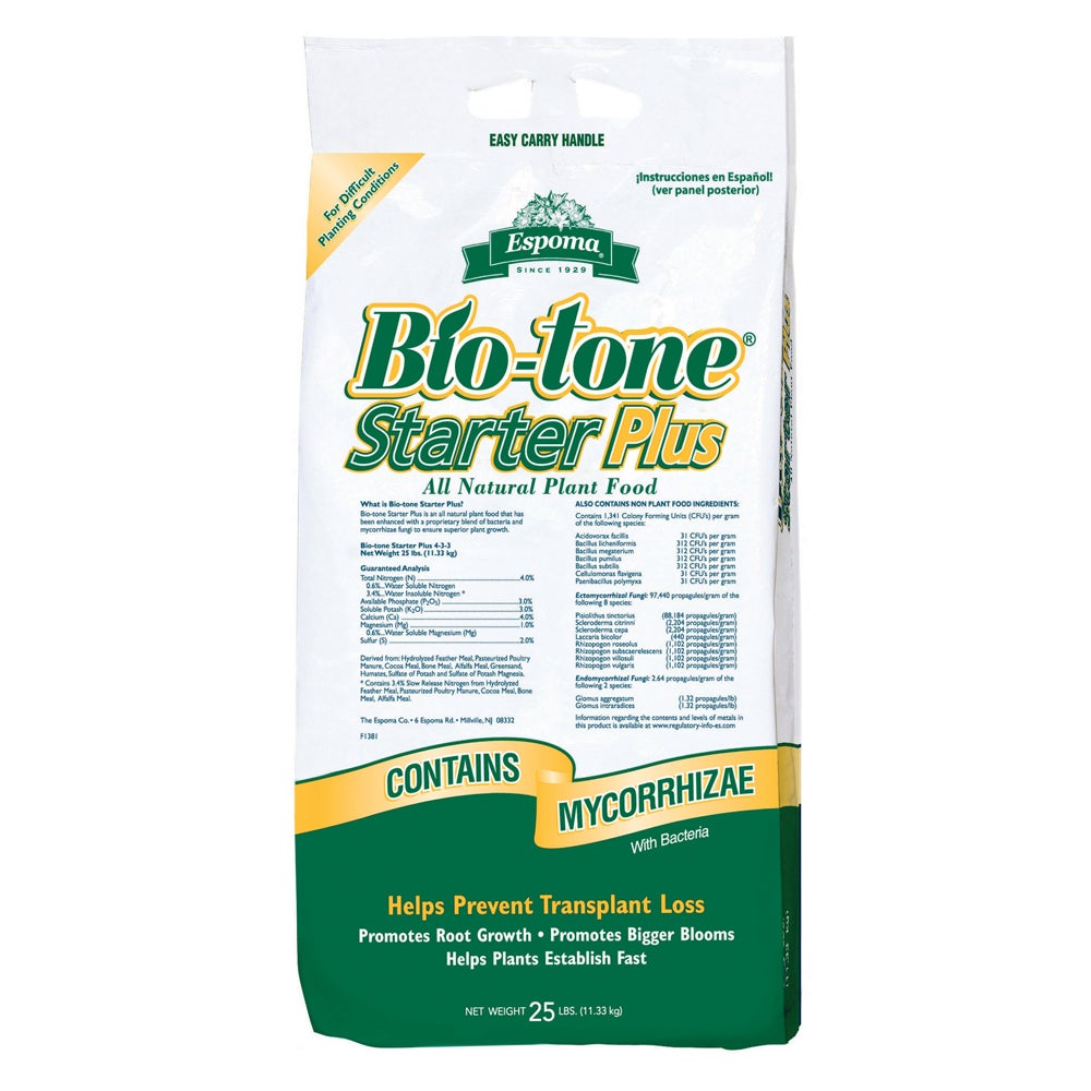 Bio Tone Starter Plus Espoma 25 Fertilizer Free Shipping Today