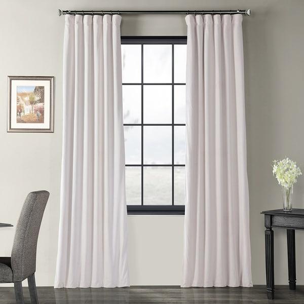 06c4f9aba920 Shop Exclusive Fabrics Signature Off White Velvet Blackout Curtain ...