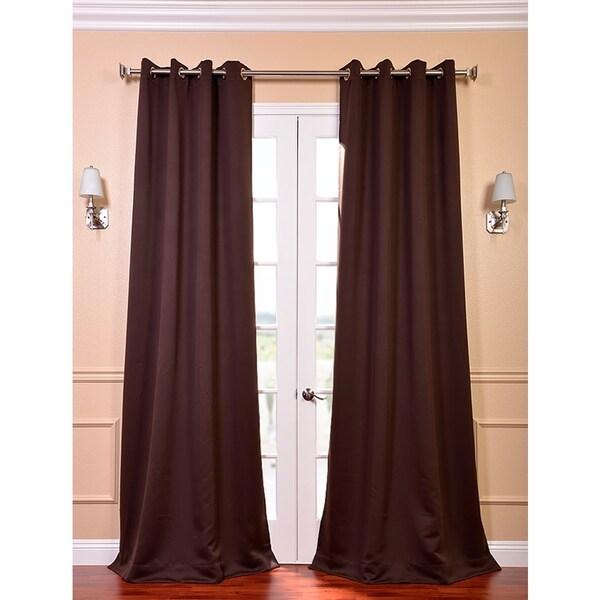 Exclusive Fabrics Grommet Java Designer Blackout 120-inch Curtain Panel Pair