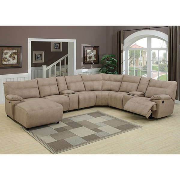 Samuel 8 Piece Reclining Stone Sectional Set Free