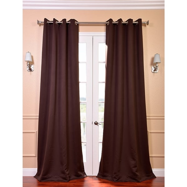 Exclusive Fabrics Grommet Java Designer Blackout 108-Inch Curtain Panel Pair