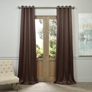 Exclusive Fabrics Grommet Java Designer Blackout Curtain Panel Pair