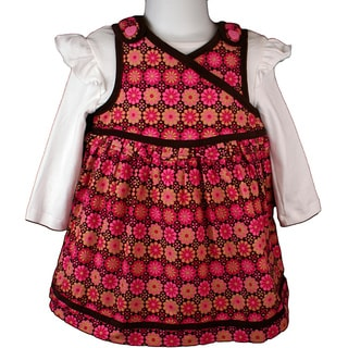 B. T. Kids Fuchsia Floral Print Jumper Dress