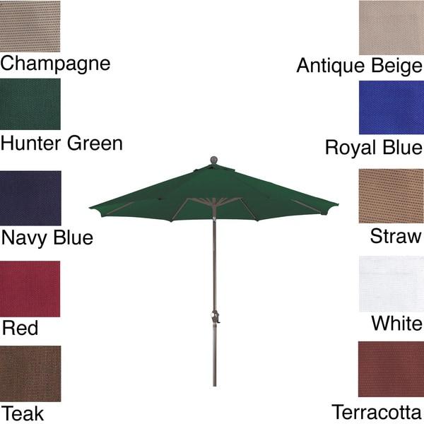 PHAT TOMMY 9 Foot Olefin Aluminum Market Patio Umbrella