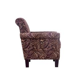 Portfolio Hyde Mocha Paisley Transitional Arm Chair