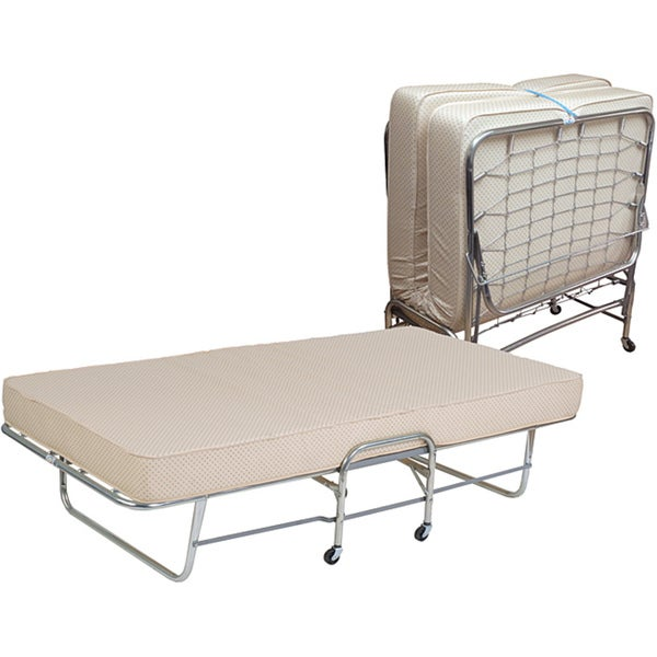 Folding Roll-a-Way Twin Bed with 6-inch Foam Mattress