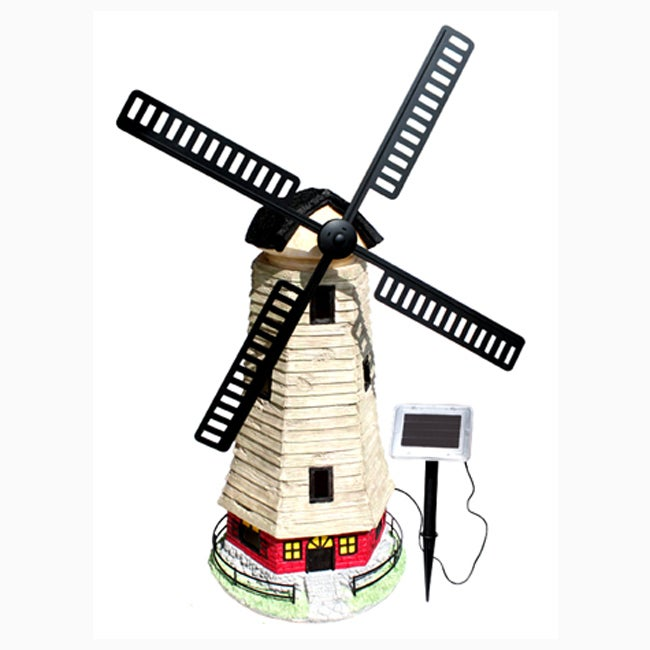 Shop Large Windmill Light House Solar Light Free