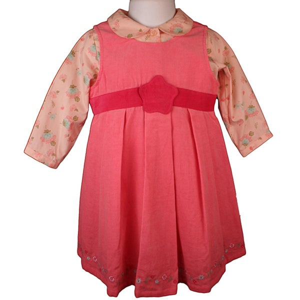 2aeb32567886e Shop Laura Ashley Baby Girl's Pink Corduroy Jumper Dress Set - Free ...