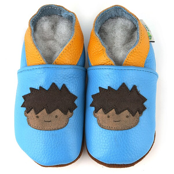 boy soft sole leather slip on baby shoes free